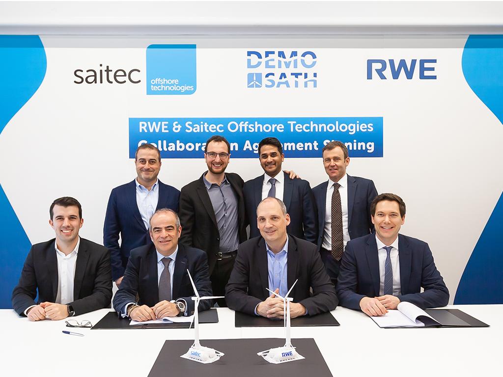 RWE & Saitec Offshore Technologies signing