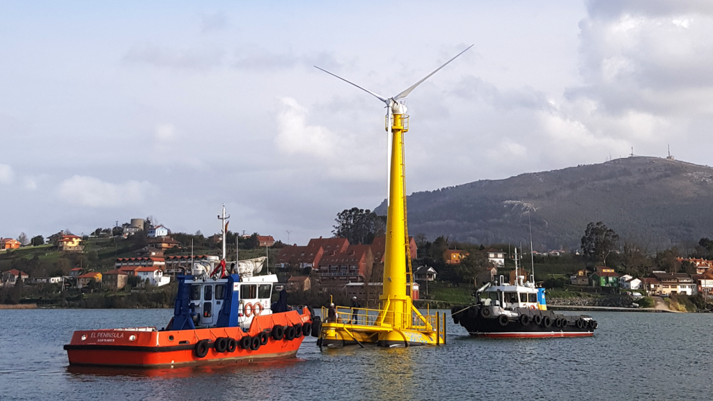 BlueSATH floating wind turbine