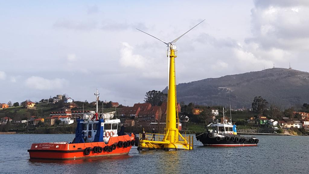 BlueSATH floating wind turbine